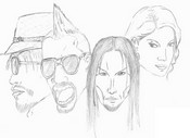 Coloriage Black Eyed Peas