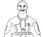 Coloriage Zlatan Ibrahimovic
