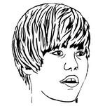 Coloriage Justin Bieber