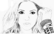 Coloriage Shakira