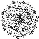 Coloriage Mandala poulpes et méduses
