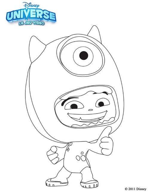 Coloriage Disney Monstre Et Compagnie.Coloriage Disney Universe Monstres Et Cie 7