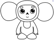 Coloriage Coloriage Cheburashka