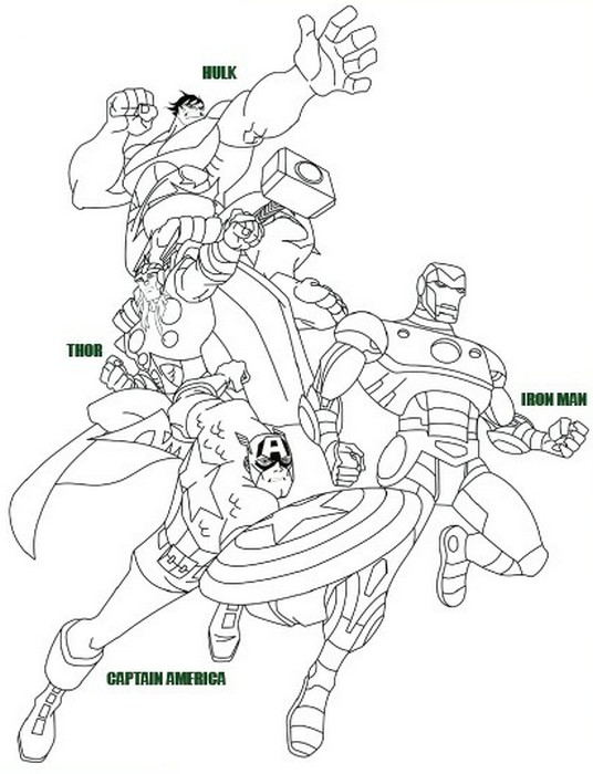 Coloriage cinema 2012 coloriage avengers 1 - Coloriage avengers 2 ...
