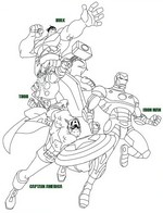 Coloriage Coloriage Avengers