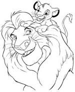 Coloriage Coloriage Le Roi Lion 3D