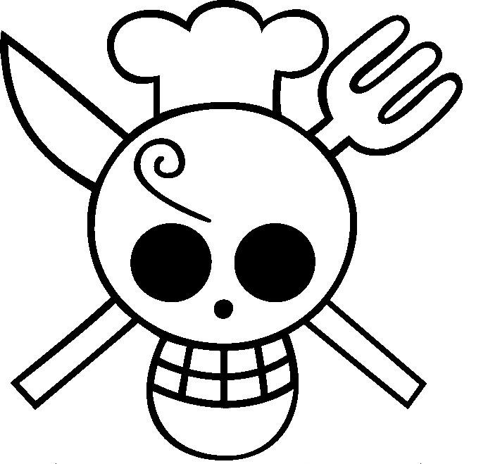coloriage tte de mort cuisinier - Tte De Mort Pirate