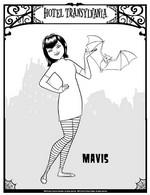 Coloriage Mavis