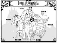 Coloriage Hotel Transylvanie