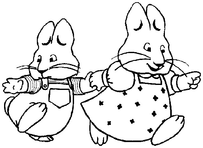 Free Max E Ruby Coloring Pages Max And Ruby Coloring Pages To Print