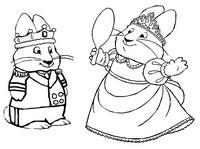 Coloriage Le Roi Max et la Reine Ruby