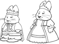 Coloriage Prince Max et Princesse Ruby
