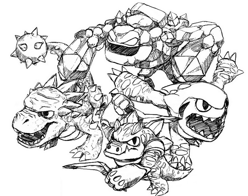 skylanders giants logo coloring pages
