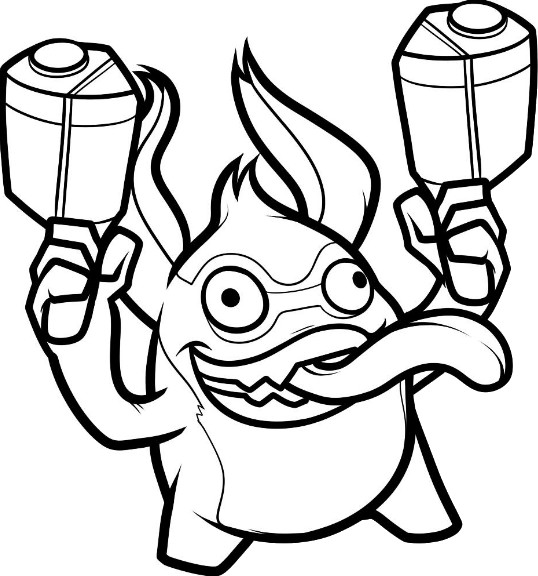 Coloriage trigger happy imagui - Coloriage skylanders giants ...