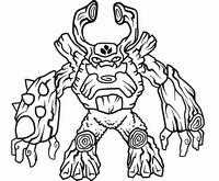 Coloriage Skylanders Giants - Tree Rex