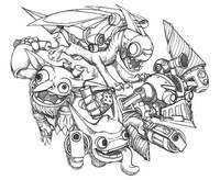 Coloriage Skylanders - Tech