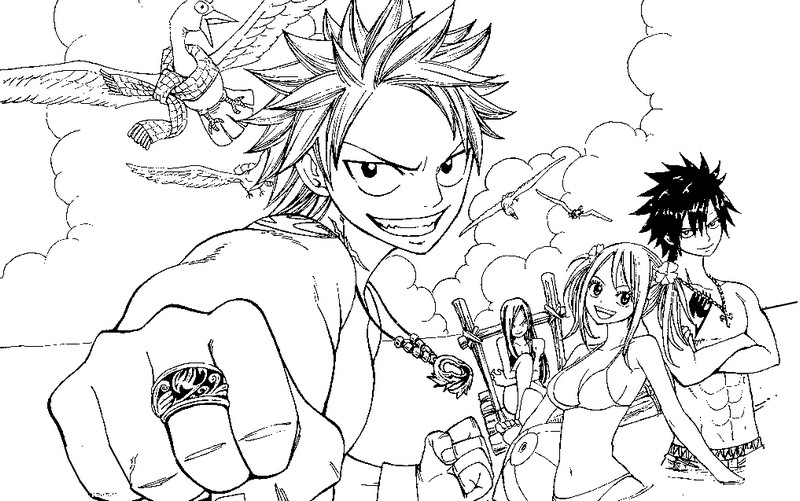Coloriage Coloriage Fairy Tail