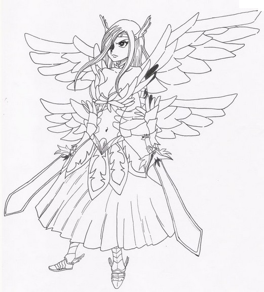 Coloriage Coloriage Erza - Fairy Tail