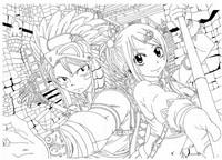 Coloriage Coloriage Natsu et Lucy