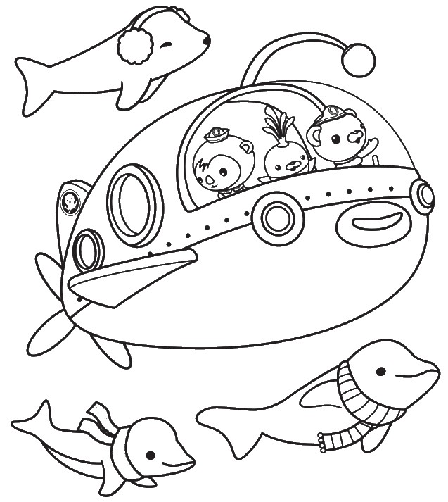 Free Coloring Pages Of Octonauts Gup S