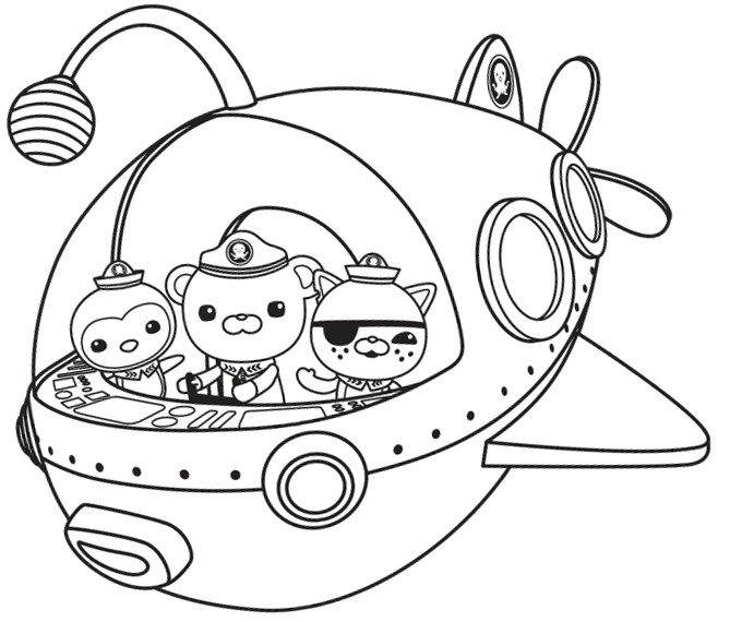 Coloriage Les Octonauts Octonauts Coloring Pages To Print