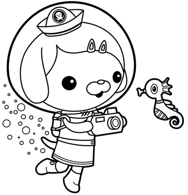 Free Coloring Pages Of Shark Octonauts
