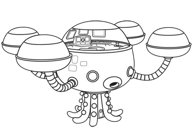 Coloriage Octopod - Octocapsule
