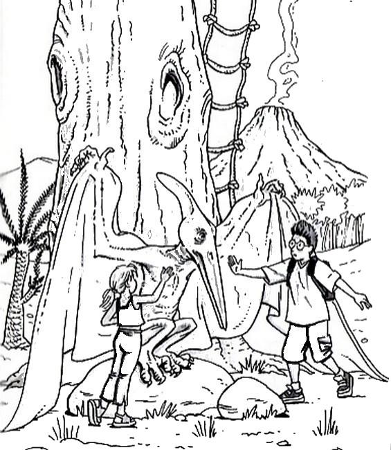 Coloriage la cabane magique 11 - Dessin cabane ...