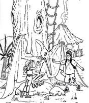 Coloriages La cabane magique - Bonjour les enfants