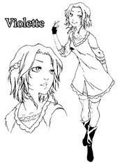Coloriage Violette