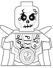 Coloriage Chopov - Squelette de la terre