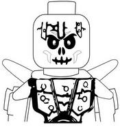 Coloriage Bonezai - Squelette de la glace