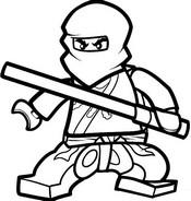 Coloriage Cole - Ninja ma�tre de la terre