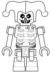 Coloriage Krazi - Squelette de la foudre