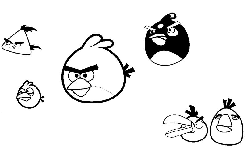 Coloriage angry birds 2 - Angry bird coloriage ...