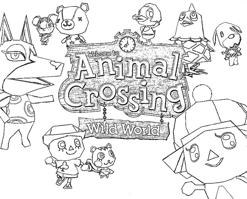 Coloriage Animal Crossing 1