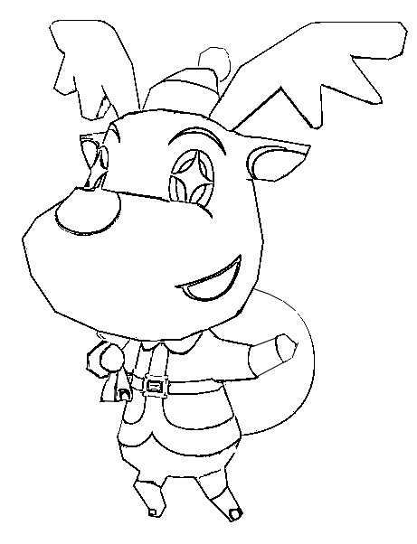 Coloriage Animal Crossing 6
