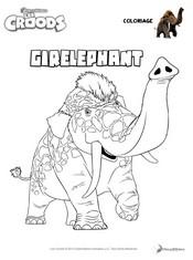 Coloriage Coloriage Giréléphant