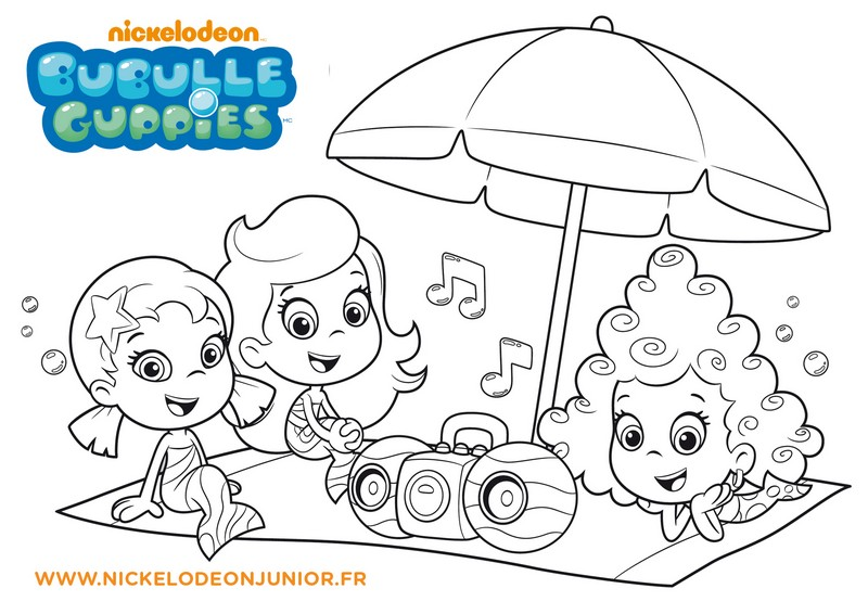 Coloriage bubulle guppies - Nickelodeon junior gratuit ...