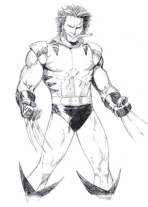 Coloriage Wolverine 5