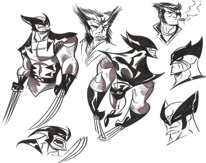 Coloriage Wolverine 7