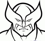 Coloriage Le masque de Wolverine