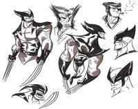 Coloriages Wolverine Coloriage