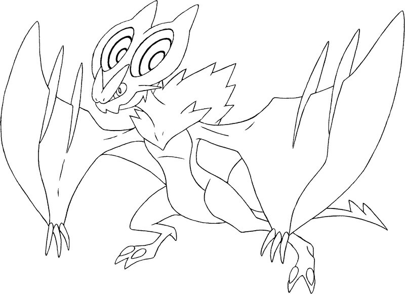 Coloriage Pokemon X Et Y Bruyverne 1 Coloring Pages X And Y