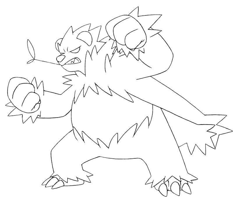 Coloriage Pokemon X et Y : Pandarbare 1