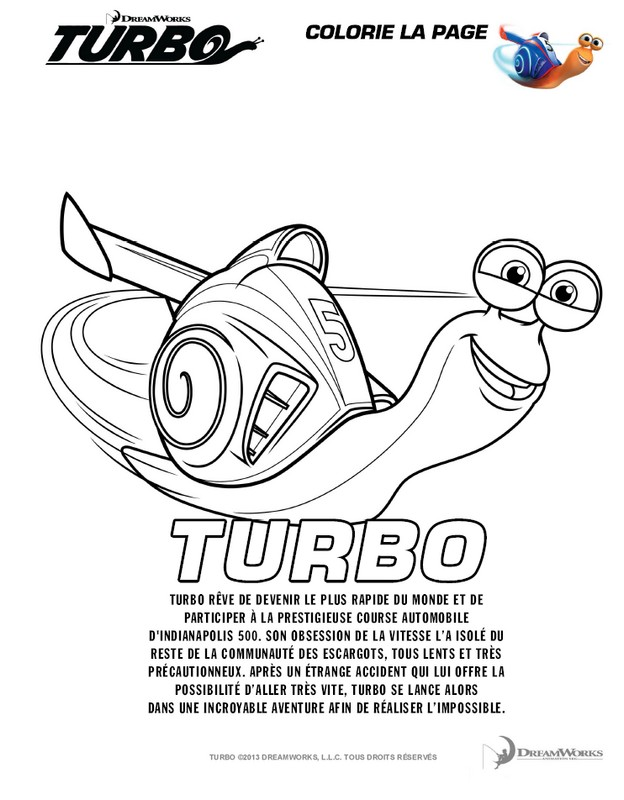 Coloriage Turbo