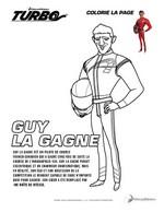Coloriage Guy la Gagne
