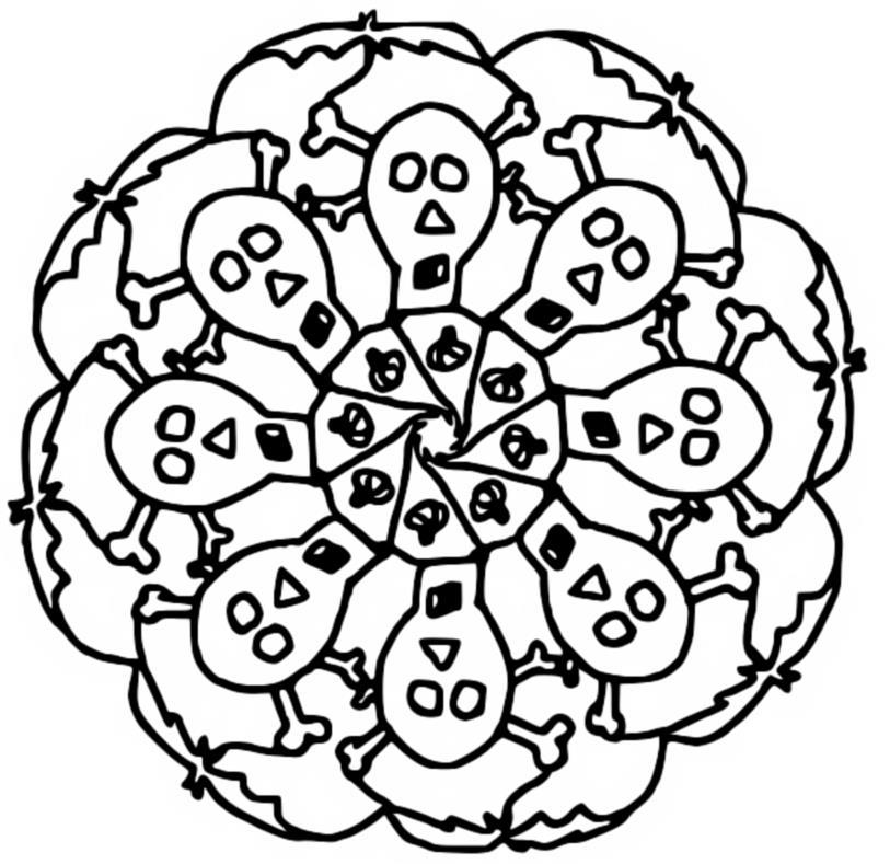 Kleurplaten Mandala Halloween.Index Of Coloriages 954 G