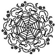 Coloriage Mandala fantômes