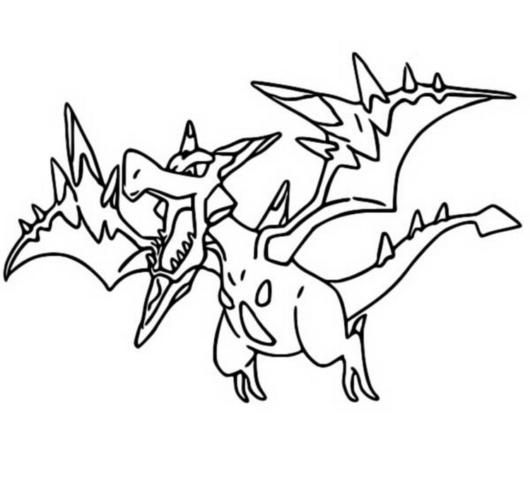Coloriage pokemon mega evolues mega ptera 142 142 for Pokemon coloring pages mega ex